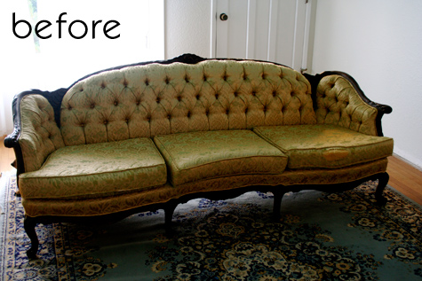 Before Amp After Faux Leather Sofa Campaign Dresser