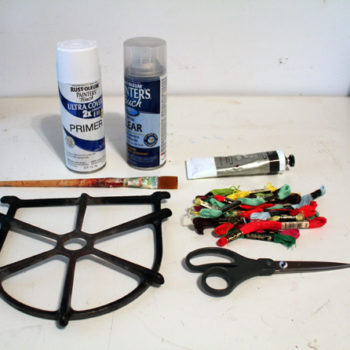 diy project: salvaged stove top trivets