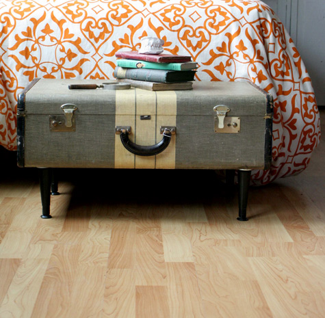Diy Project Ashley S Vintage Suitcase Coffee Table