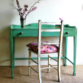 before & after: multiple makeovers of an old desk