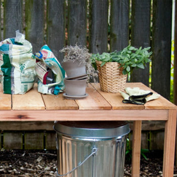 diy project: outdoor planting table