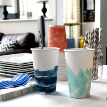 diy project: painterly party cups