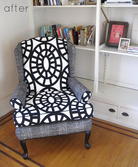 Before & After: Modern Two-tone Sofa + Chair Makeovers