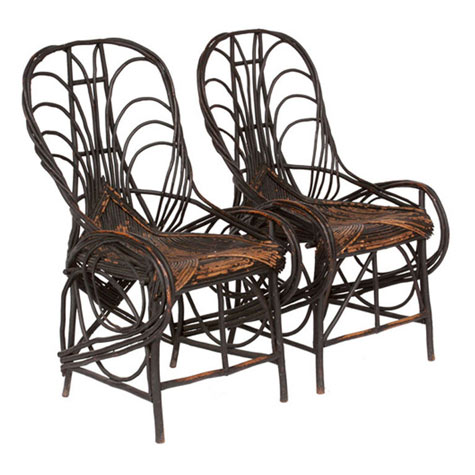 past present twig furniture history design sponge rh designsponge com twig outdoor patio furniture Rustic Twig Chairs