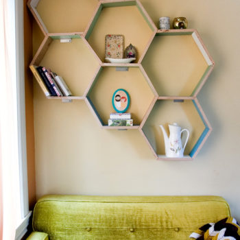 diy project: honeycomb storage shelves