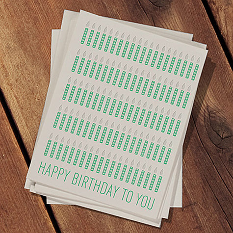 Color Your Own Candles Birthday Card Designsponge
