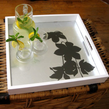 diy project: silver leaf botanical tray