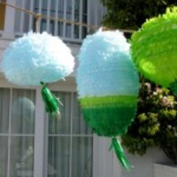 diy project: piñata-inspired party lanterns