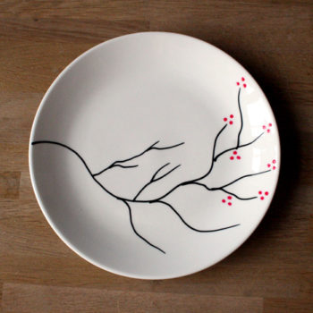 diy project: cherry blossom plate