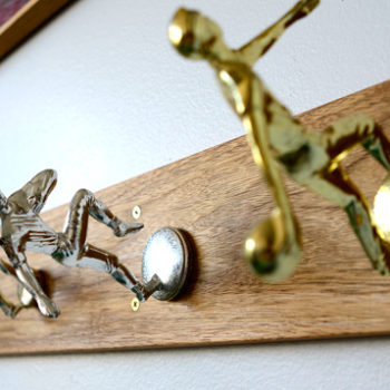 diy project: vintage trophy coat rack