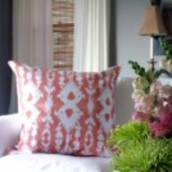 diy project: ikat print pillow