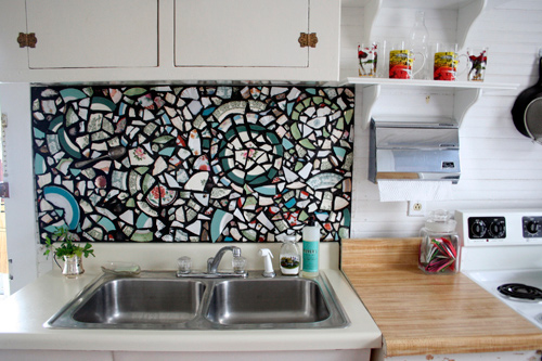Time: 2 Years For Kitchen, 1 Month For Mosaic Backsplash
