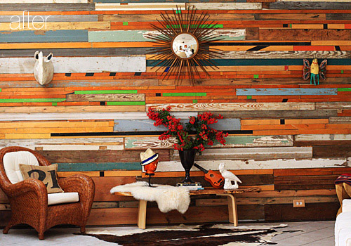 Read More About Sarah S Salvaged Wood Wall After The Jump