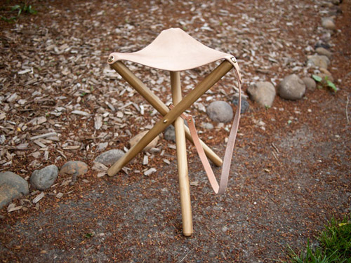 Diy Project Tripod Camping Stool Design Sponge