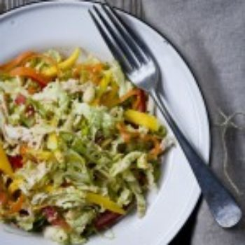 in the kitchen with: giao trac's shredded chicken salad with spicy ginger dressing