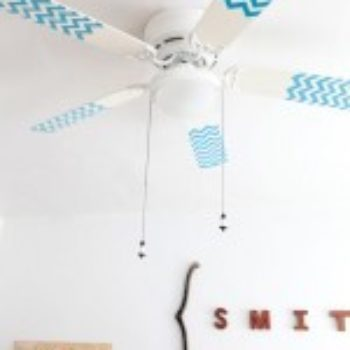 diy project: chevron pattern fan blades