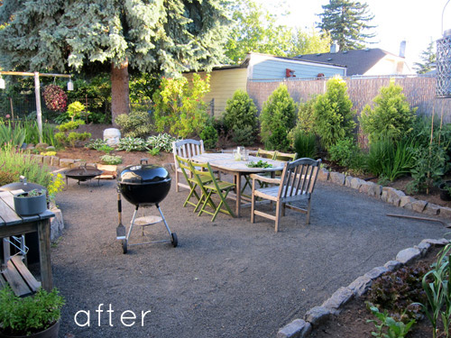 before & after: two backyard renovations - Design*Sponge on Pebble Yard Ideas id=14950