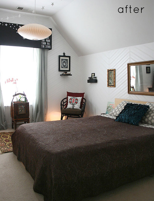 Nice Read more about Evita us chevron wall and bedroom makeover after the jump