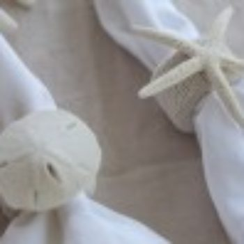 diy project: beachy napkin rings