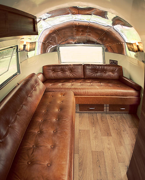 Vintage Seekers recently added a stunning series of original restored Airstream  trailers to their collection and this one with the leather seating and ...