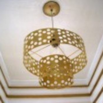 diy project: vintage-style brass pendant lamp