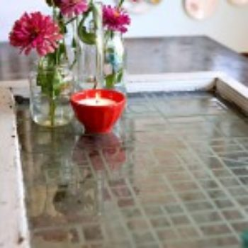 diy project: etched map serving tray
