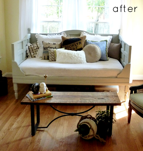 Read ... & before u0026 after: old door daybed + embellished cabinet u2013 Design*Sponge