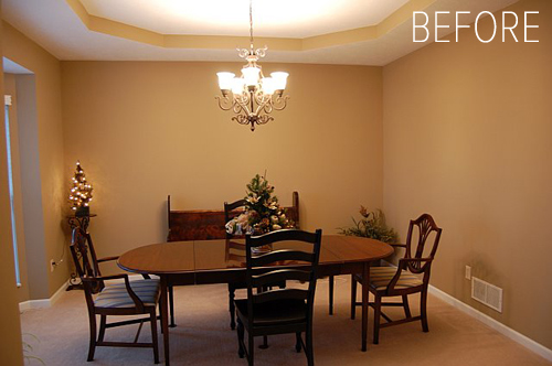 Before after dining room turned library design sponge What to do with an unused living room