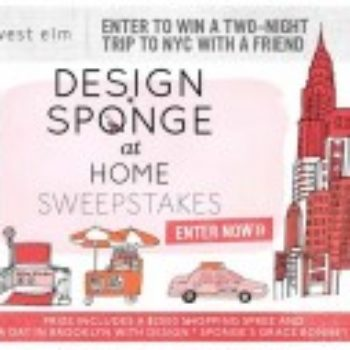 design*sponge at home sweepstakes!