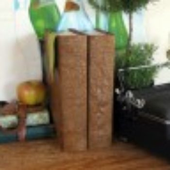 "diy project: paper ""leatherbound"" books"