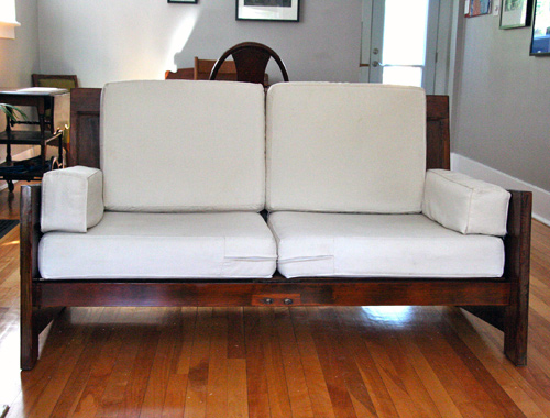 Before Amp After Sofa Made From Old Doors Design Sponge