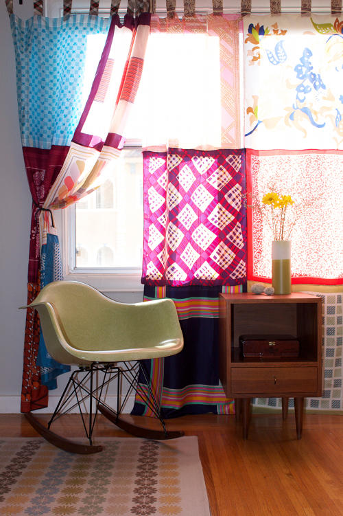 DIY Vintage Scarf Curtains Project – Design*Sponge