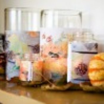 DIY project: muslin photo candle covers