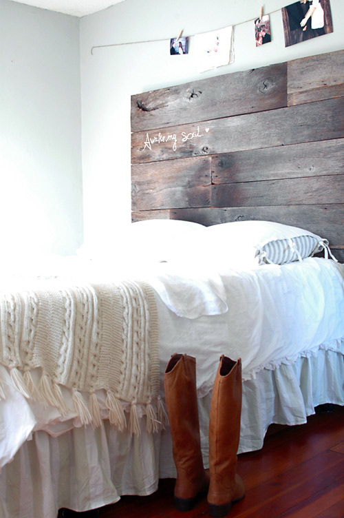 Diy Project Salvaged Barnwood Headboard Design Sponge