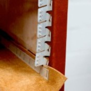 upholstery basics: leather bookshelf