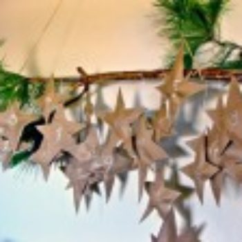 diy project: falling stars advent calendar