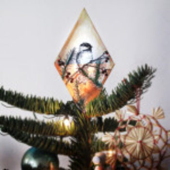 diy project: chickadee tree topper + ornament from the wild unknown