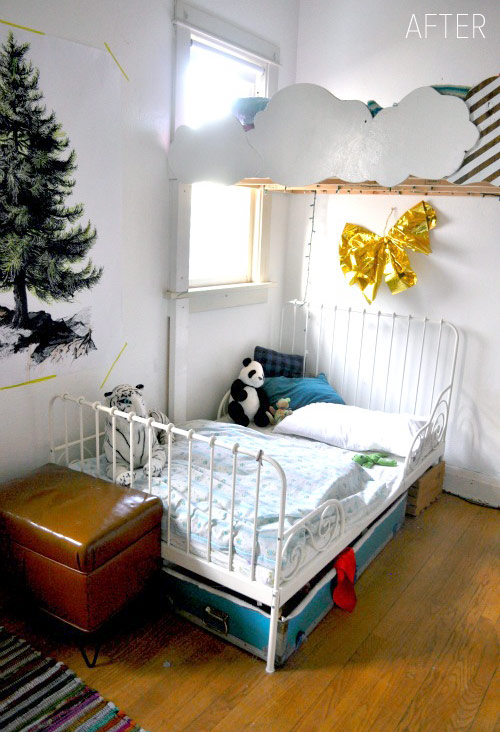 Room Makeover And A Box Bed: Before & After: Bedroom Makeover For Three Kids