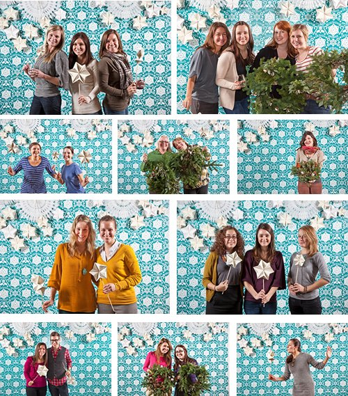 diy holiday photo backdrop share christmas photo booth image