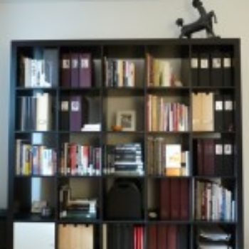 before & after: artful ikea bookshelf modification