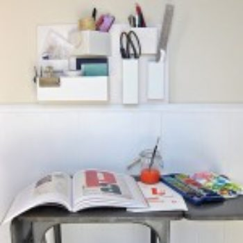 diy project: recycled cardboard organizer