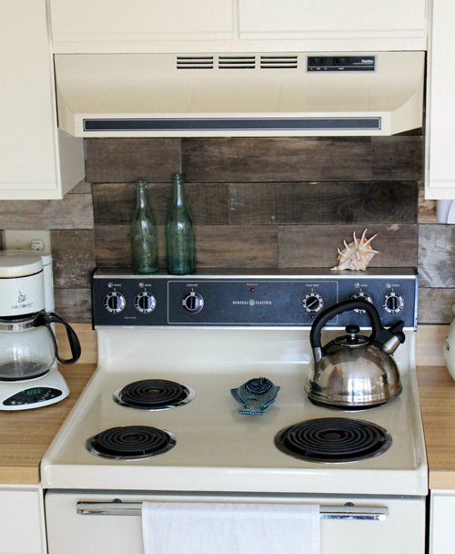 wood backsplash kitchen before amp after reclaimed wood kitchen backsplash design 15464