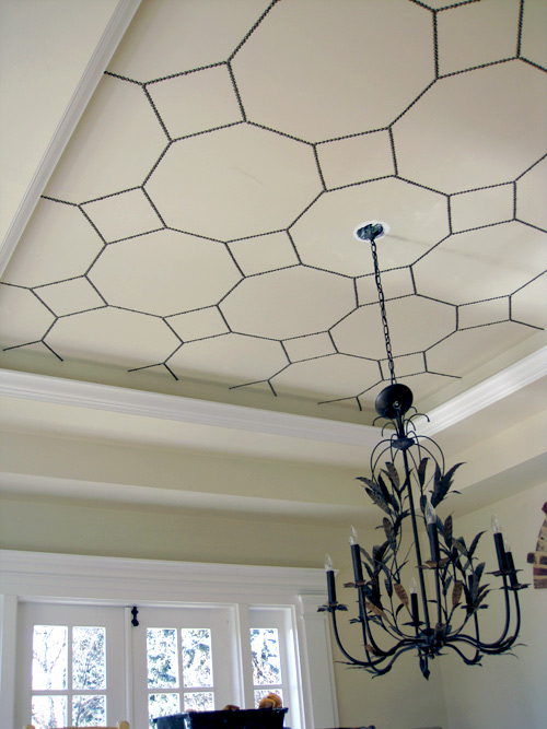 Diy Project Bronze Nail Ceiling Design Design Sponge