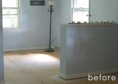 Before Amp After Painted Pattern Floor Design Sponge
