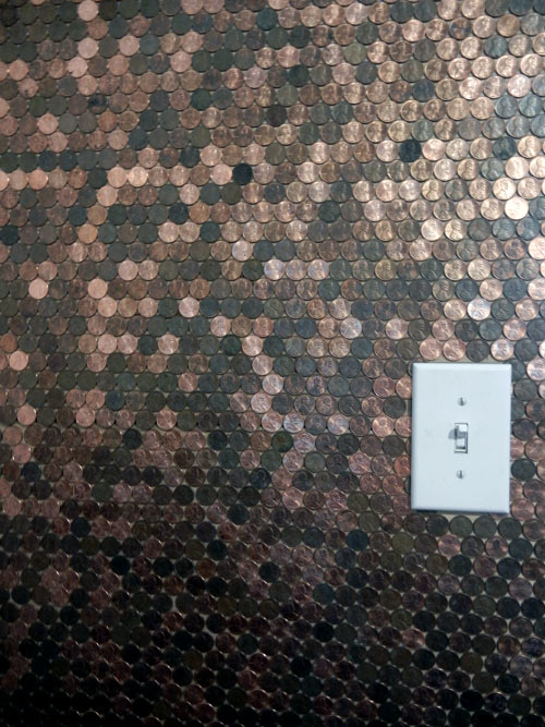 Before Amp After Penny Wall Design Sponge