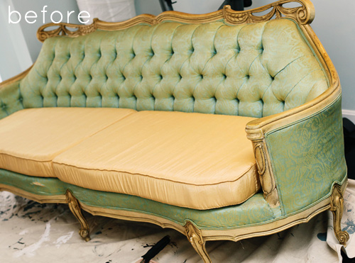 Before After Painted Sofa Design