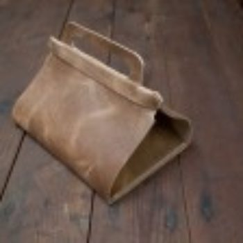 diy project: leather lunch tote