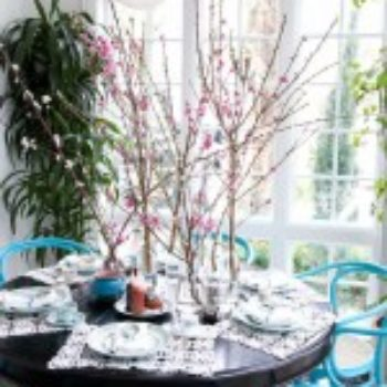 flowers under $50: blooming branches tea party