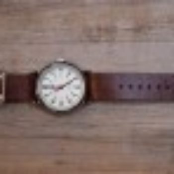 diy project: leather watchstrap