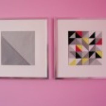sewing 101: triangle patchwork wall art